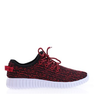 032-RED-BLACK Women's Shoe