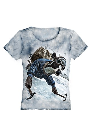 Real 3d Gray Women T-shirt V057