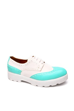 107-01-001z-White Turquoise Women's Shoe