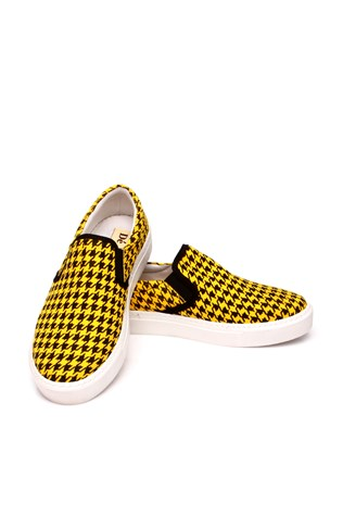 109-01-015z Yellow Black Women's Shoe