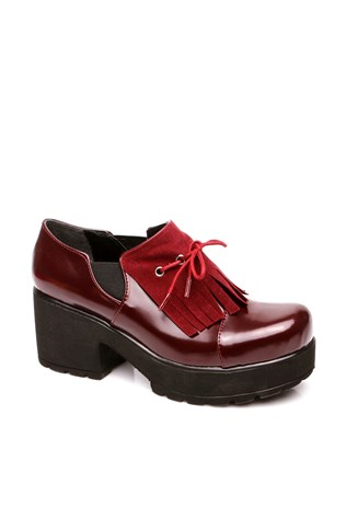 116-01-011z Bordeaux Laced Women's Shoe