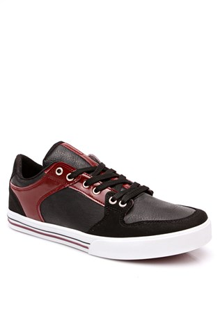 1444 Black & bordeaux masculin's sport shoe