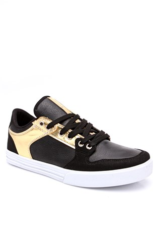 1444 Black & gold sport masculin's shoe