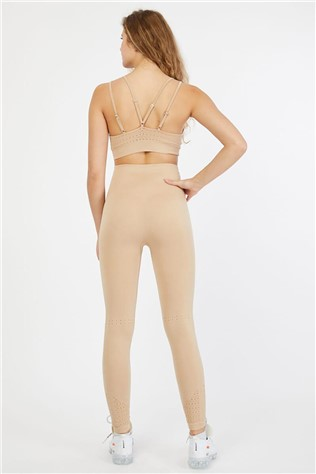 2 piece women sport set - Beige  9979261