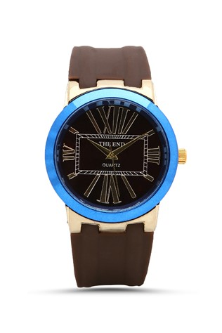 2045 Καφέ & blue man's watch