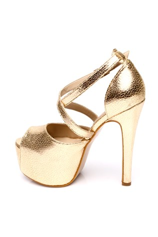 266-09-003z Gold Women's Shoe