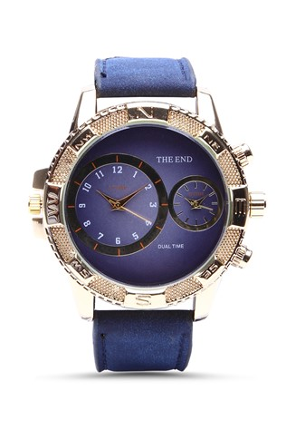 3016 Dark blue man's watch