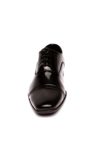 A Plus Erg 1340 Black Laced Men's Shoes