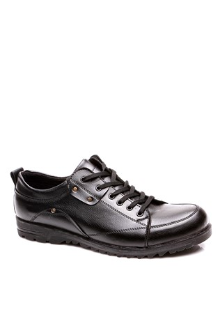 A Plus Erg 4042 Black Men's Shoe