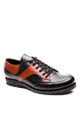 4043 Black-Brown Men's Shoe