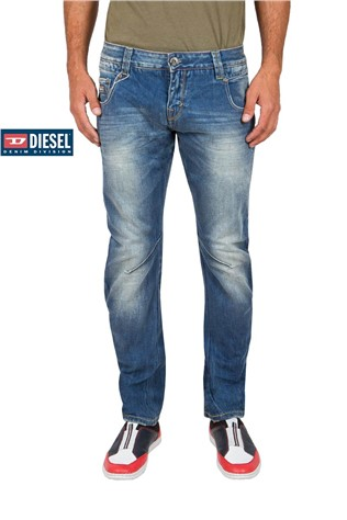 Ανδρικά τζιν Barron Twisted Fit 604 Medium Blue Wash J4161MS