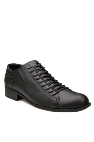 Μαύρα Elegant leather shoes 201866