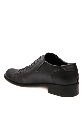 Black Elegant leather shoes 201866