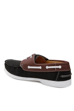 Black Leather Moccasins 2018121