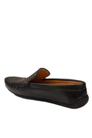 Black Leather Moccasins 201872