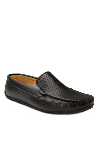 Black Leather Moccasins 201873