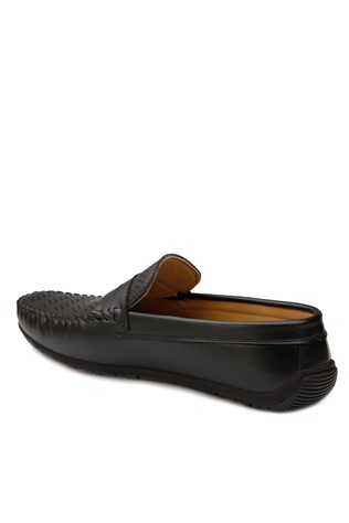 Black Leather Moccasins 201878