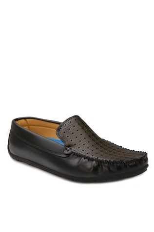 Black Leather Moccasins 201895