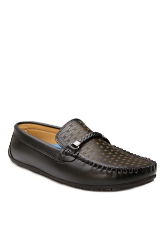 Black Leather Moccasins 201897
