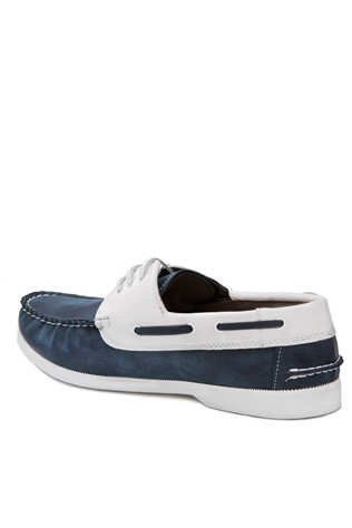 Blue and White Moccasins 201836