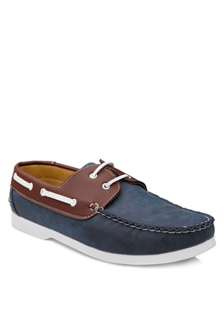 Blue Leather Moccasins 2018120