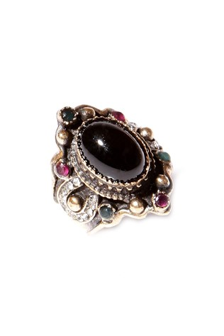 Byzalora Black Stone Authentic Rings -2083