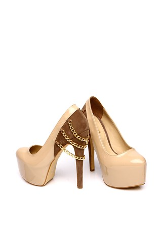 Cd 502 Beige Laced Women's Shoe
