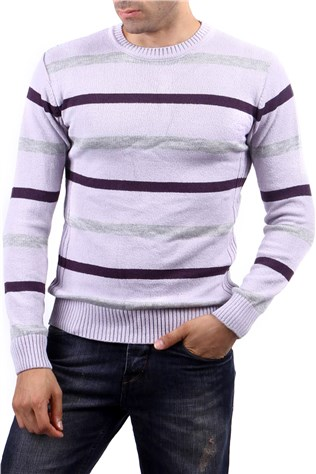 Celeste By Sereen 8704 Men's Purple Sweater