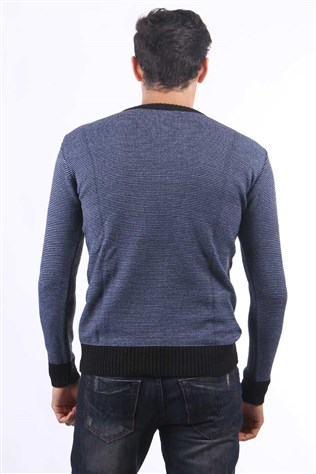 Celeste 8702 Men's Black Sweater