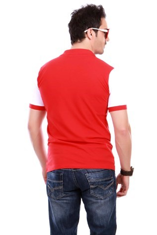 Cml-0200 Ewd Red White Men's T-shirt