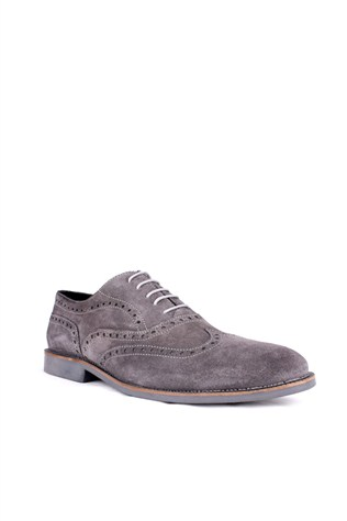 Crunell Kl 080 135 Gray Suede Men's Shoe