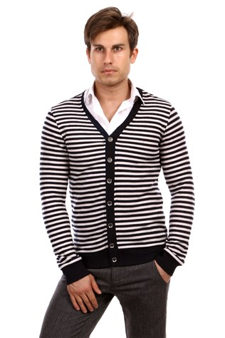 D&a 201hr073 Men's Dark Blue Cardigan
