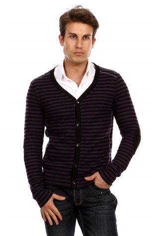 D&a 201hr074 Men's Pourple Sweater