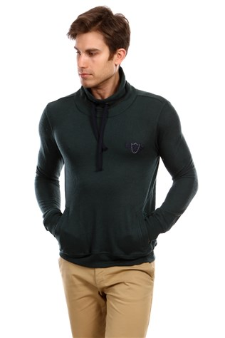 D&a 201uk519 Men's Green Sweatshirt