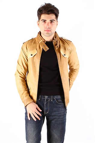 Maccali 4007 Yellow Men's Leather Jacket