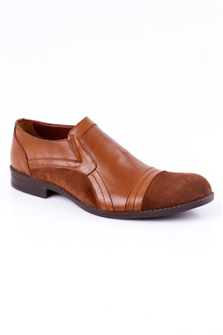 0013 Brown Leather piele de căprioară Men's Shoe
