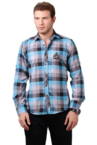 Deep Red Dp158-2 Men's Shirt