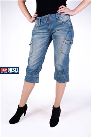 Denim Peddle Pushers Bluwsh TFJ6002F
