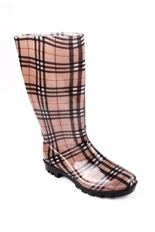 Dunham Gls-008 Beige-black plaid Boot