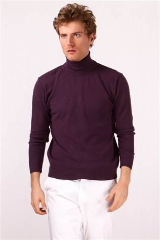 Fonxsıon 2152-3 Men's Pourple Sweater