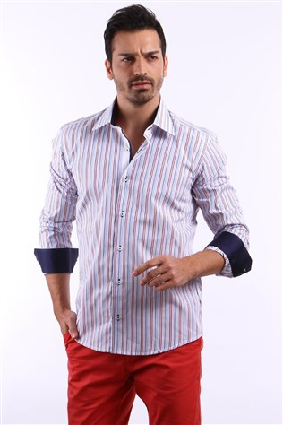 Galaksi 13106-01 Striped Men's Shirt