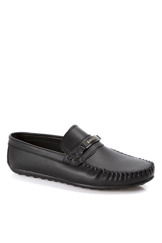 Leather Men's shoes Black  2019132