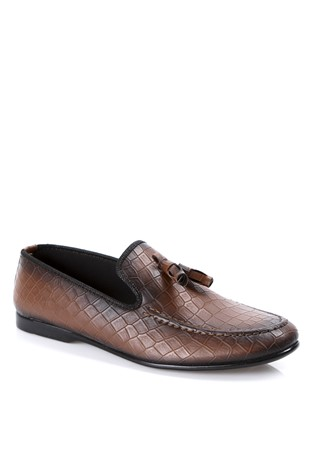 Leather Men's shoes Brown  2019138