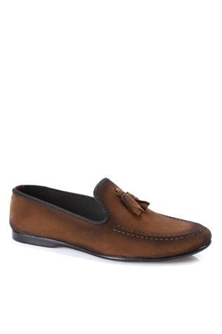 Leather Men's shoes Brown  2019143
