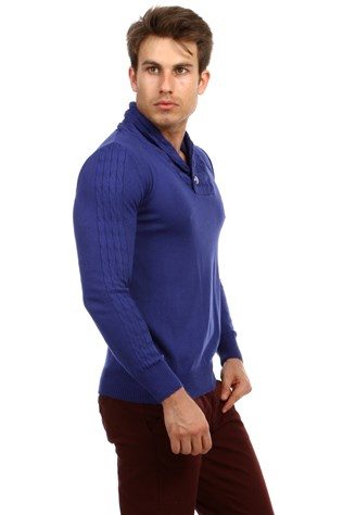 Lee Ecosse 60362 Men's Blue Sweater