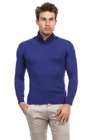 Lee Ecosse 60364  Men's Blue Sweater