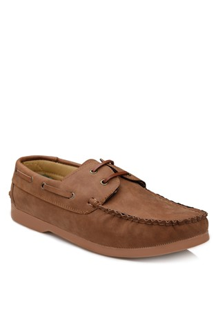 Light-Brown Leather Moccasins 2018116