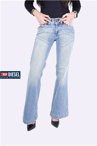 Low Rise Buckle Jean Ltwash  PTLT354