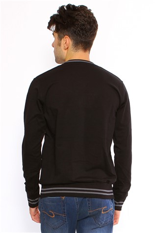 Maccali 2041 Men's Black Sweatshirt