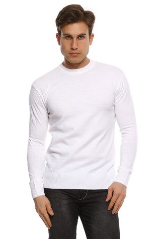 Maccali Men's White Sweatshirt 002 Beyaz